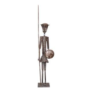 Mid Century Brutalist Metal Don Quixote Sculpture