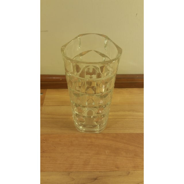 Mid-Century Crystal Glass Vase - Image 3 of 4