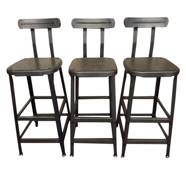 Industrial Steel Bar Stools Set of 3 Chairish : industrial steel bar stools set of 3 1103aspectfitampwidth640ampheight640 from www.chairish.com size 601 x 601 jpeg 39kB