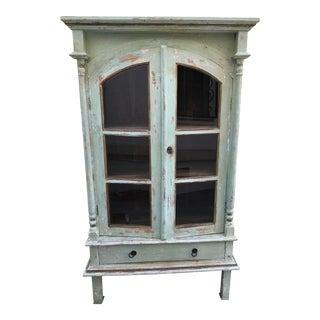 Green Shabby Chic Cabinet