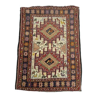 """Antique Hand Knotted Prayer Rug - 27"""" x 37"""""""