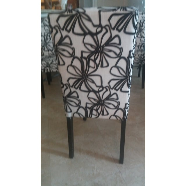 Black & White Parsons Dining Chairs - Set of 6 - Image 6 of 7