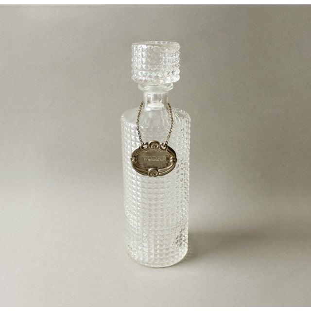 Vintage Crystal Glass Liquor Decanter Bottle Vodka - Image 3 of 6
