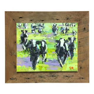 Vermont Cows Acrylic Painting