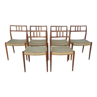 Niels O. Moller Danish Modern Dining Chairs - Set of 6