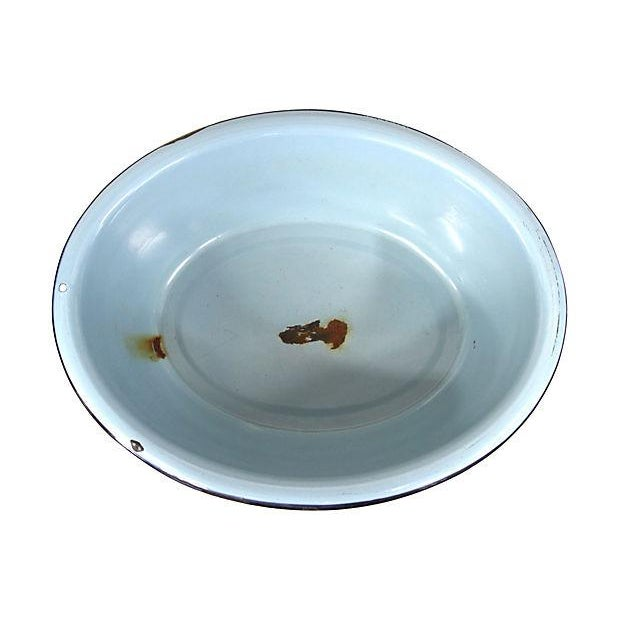Image of French Graniteware Blue Basin