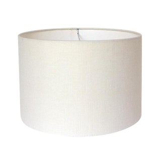 Large Off-White Linen Custom Drum Lamp Shade