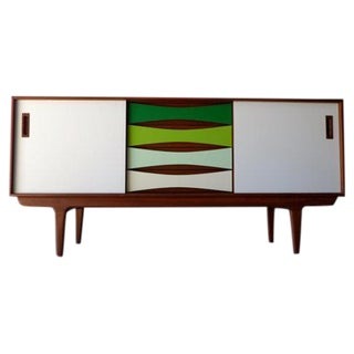Green Toned Mid Century Modern Styled Credenza