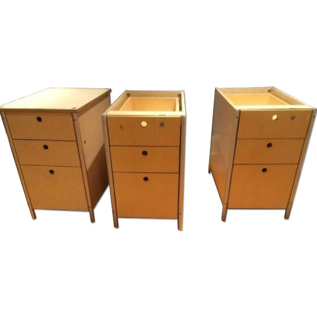 Image of Milder Office Wooden Drawer Cabinets - Three