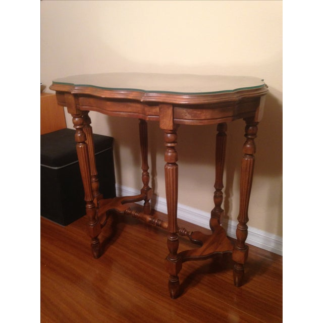 Image of Vintage Traditional Wooden End Table