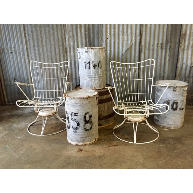 Vintage Homecrest Swivel Chairs - A Pair - Image 9 of 11