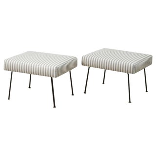 Pair of Montrose Ottomans by Lawson-Fenning