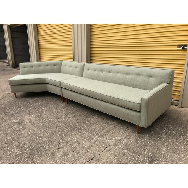 Marden Mid-Century Sectional Sofa - 2 Pieces - Image 10 of 11
