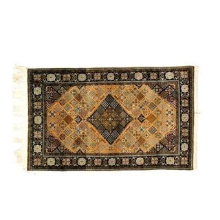 "Leon Banilivi Gold Silk Qum rug, 3'6"" x 5'6"""