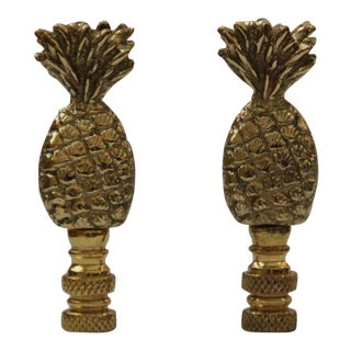 Pineapple Lamp Finials - A Pair