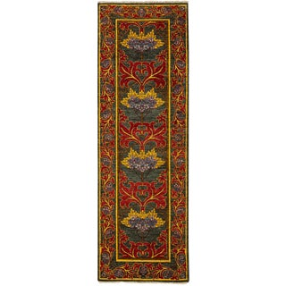 """Arts & Crafts Hand Knotted Runner - 2'8"""" X 8'3"""""""