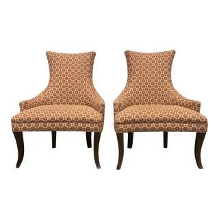 Kravet Turin Klismos Style Lounge Chairs - A Pair