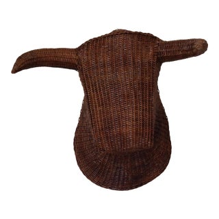 Hand Woven Bull Head