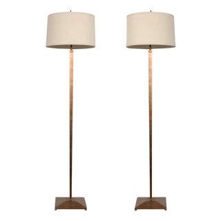 Gilt Floor Lamps - A Pair