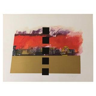 """Jerusalem Burns"" Serigraph by Dan Reisinger"