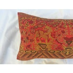Image of Vintage Silk Asian Foo Dogs Boudoir Pillow