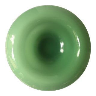 Large Decorative Rimmed Jadeite Bowl