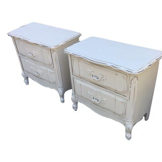 Bassett Shabby Chic Nightstands - a Pair