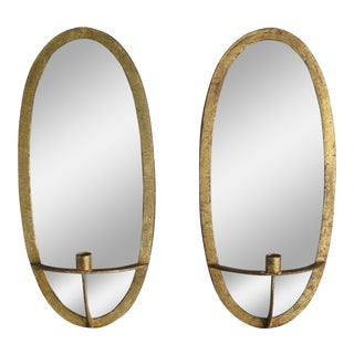 Arteriors Mirrored Agatha Sconces - A Pair