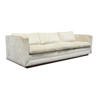 Milo Baughman Cream Chenille Sofa