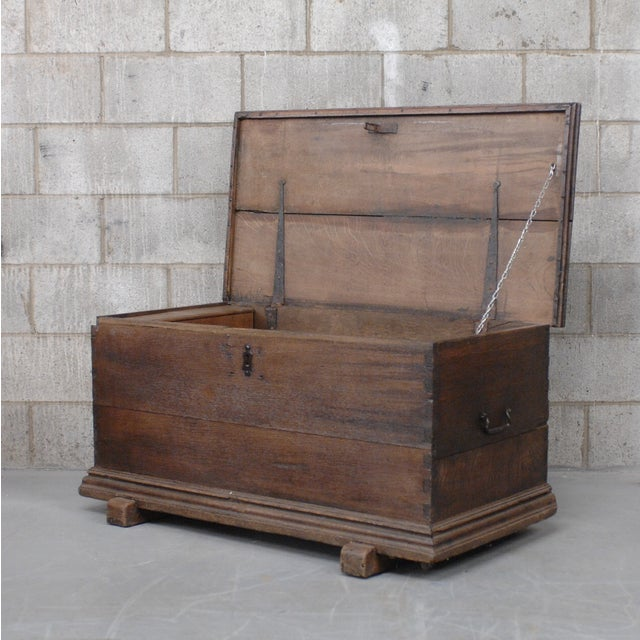 Image of Antique European Trunk With Hidden Casters