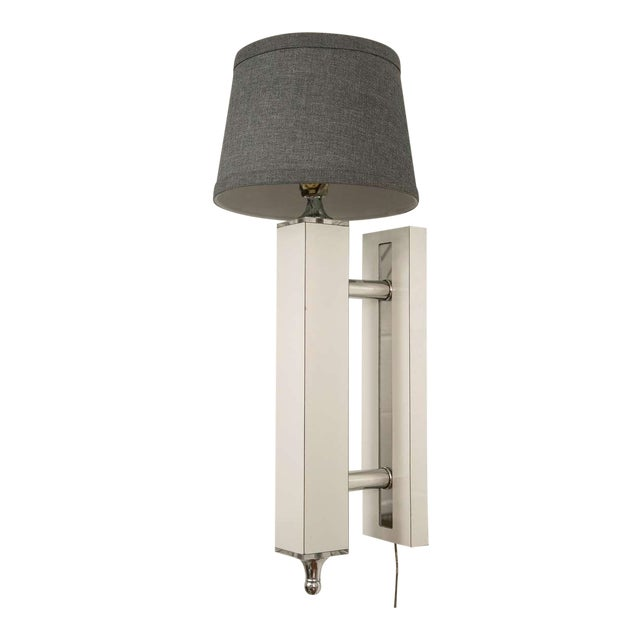 Pair of Midcentury Wall Sconce with Lucite Accents - Image 1 of 9