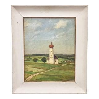 Original Escher Oil Painting in Frame