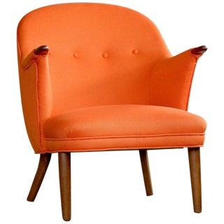 1950s Kurt Olsen Style Danish Mama Bear Lounge Chair