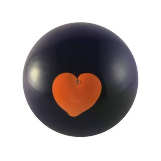 Handblown Glass Indigo Heart Sphere
