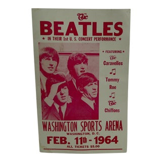 'The Beatles' First U.S. Concert Poster