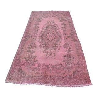 Turkish Pink Rug - 3′11″ × 7′7″