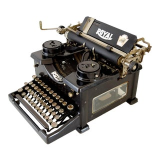 Antique Black Royal Manual Typewriter