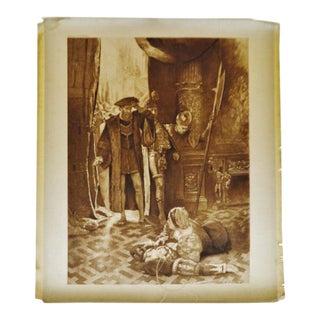 1900 Antique Last Act Last Scene Photogravure by CD Graves Lucrezia Borgia