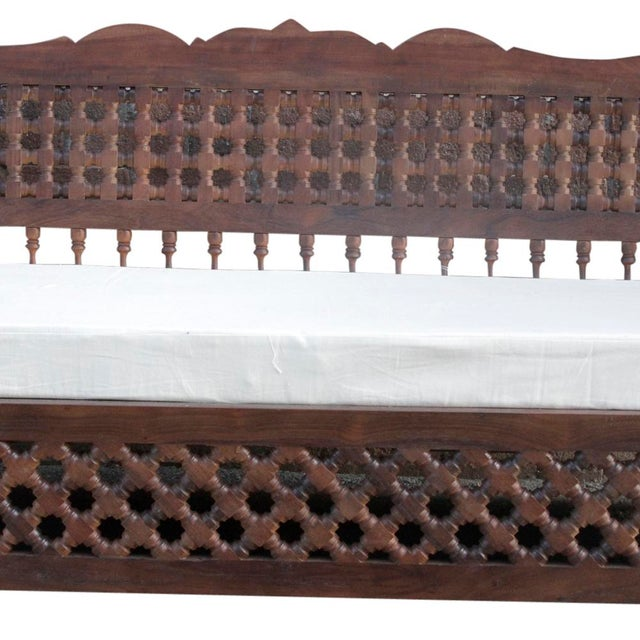 Hand-Carved Mousharabi Daybed - Image 2 of 6