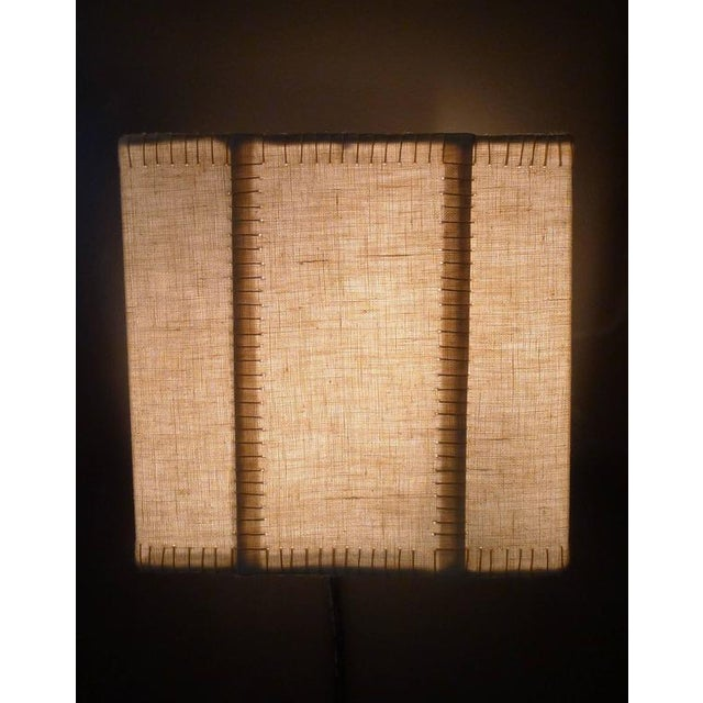 Hand-Stitched Laced Linen Shaded Wall Sconces - Image 5 of 7