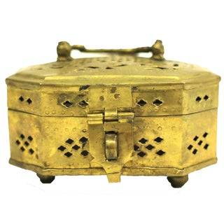 Vintage Indian Brass Cricket Box