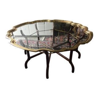 Baker Brass & Glass Tray Coffee Table