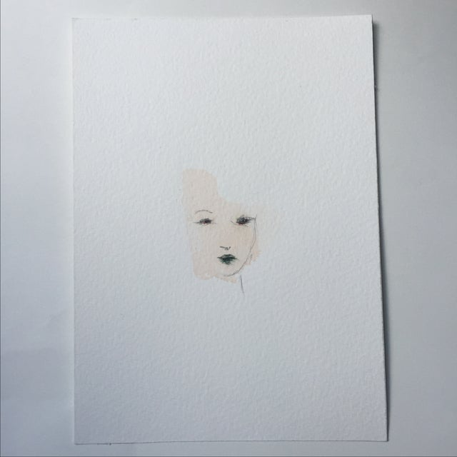 Minimal Watercolor Face Painting - Image 2 of 4