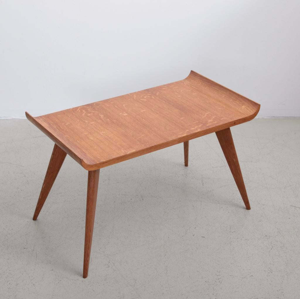 Spanish Modernist Pagoda Coffee Or Side Table In Oak By Manuel Barbero 1953    Image 2