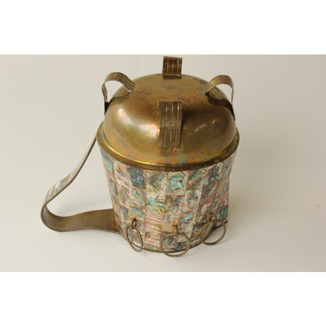 Salvador Teran Abalone Shell & Brass Pitcher - Image 7 of 7