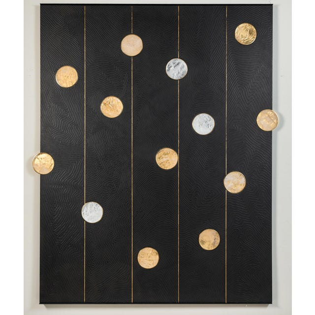 Art Wall Panel with Texture and Rock Crystal by Paul Marra - Image 8 of 11