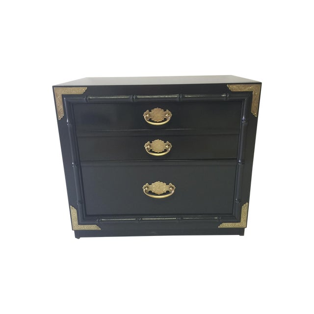 Huntley by Thomasville Lacquered Chest Side Table - Image 1 of 5
