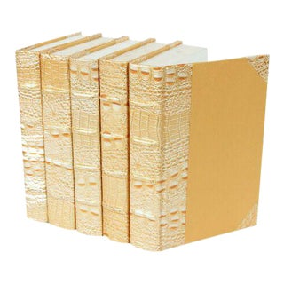 Exotic Collection Croc I Gold Books - Set of 5