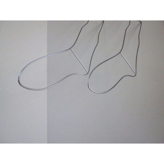 Image of Two Modernist Wire Stocking Sock Forms