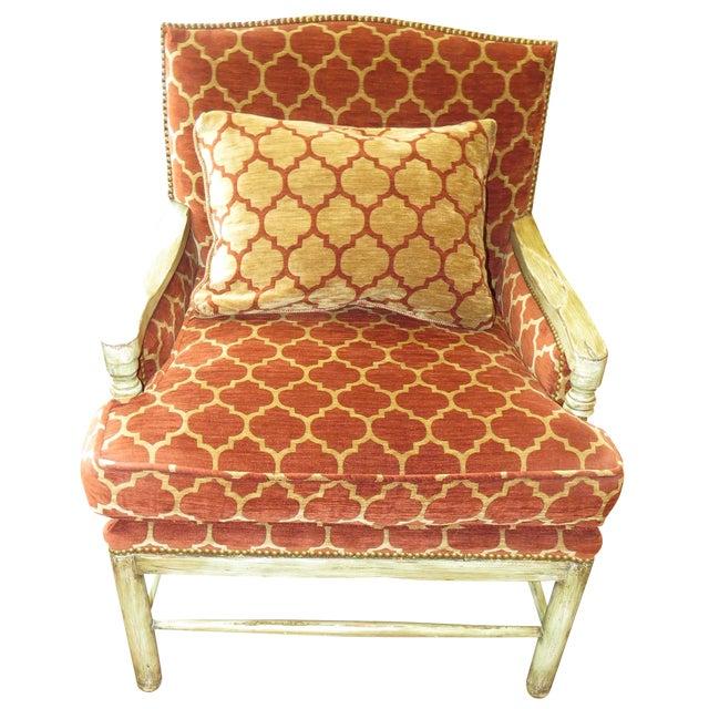 Orange Quatrefoil Living Room Chair Chairish